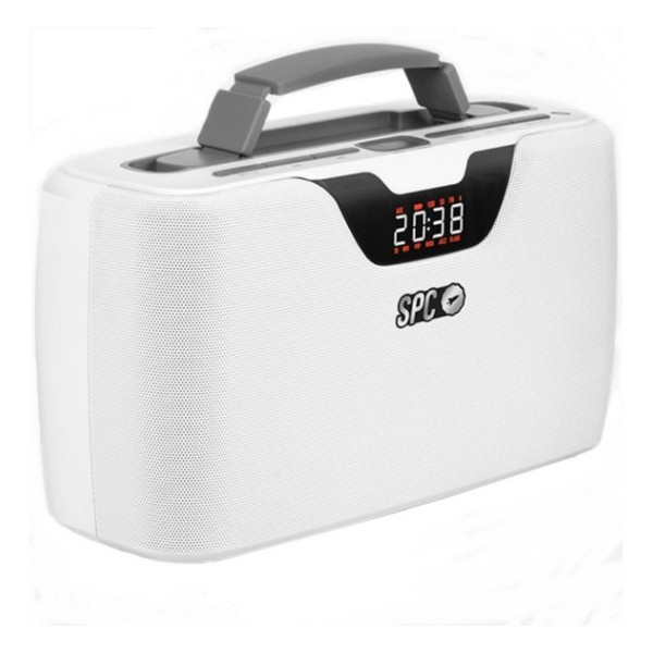 Radio Portabil Bluetooth SPC Radio Storm Boombox 4503B 20W Alb