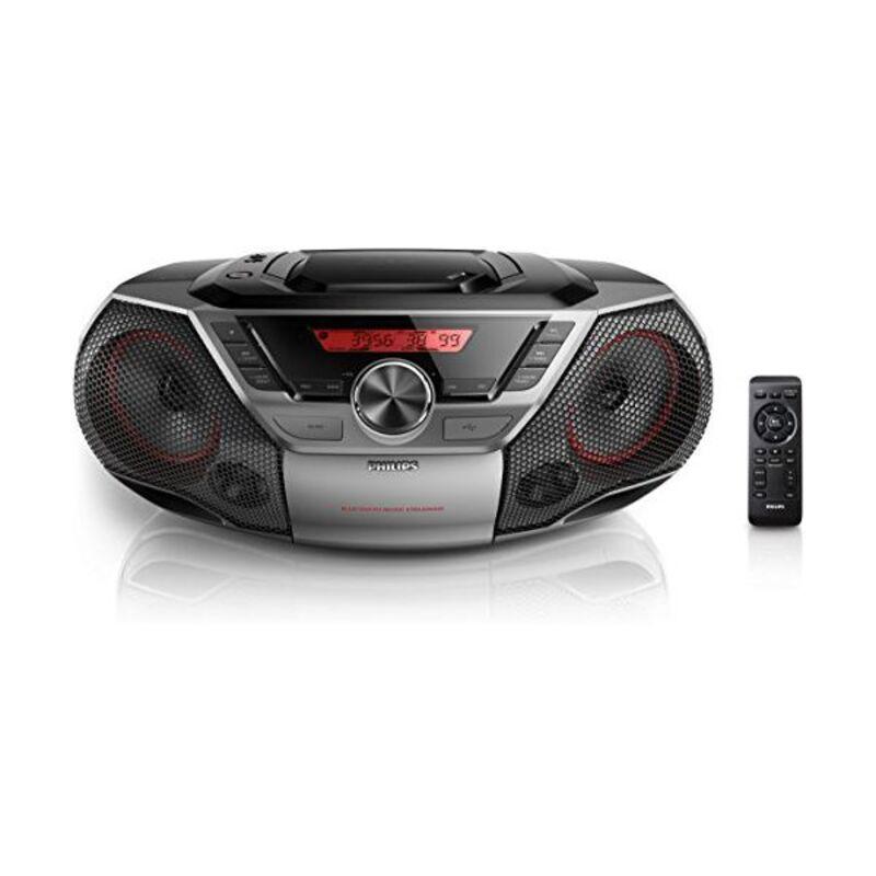 Radio CD MP3 cu Bluetooth Philips AZ700 12W Gri
